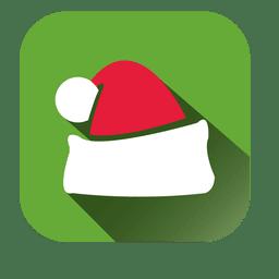 Santa gorra icono cuadrado