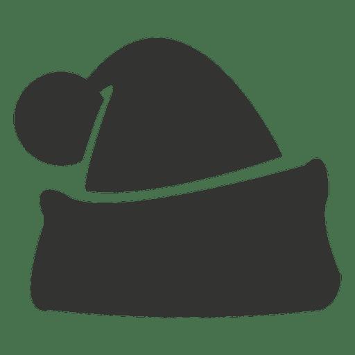 Santa claus grey hat icon