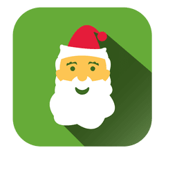 Santa Face Cartoon Square Icon