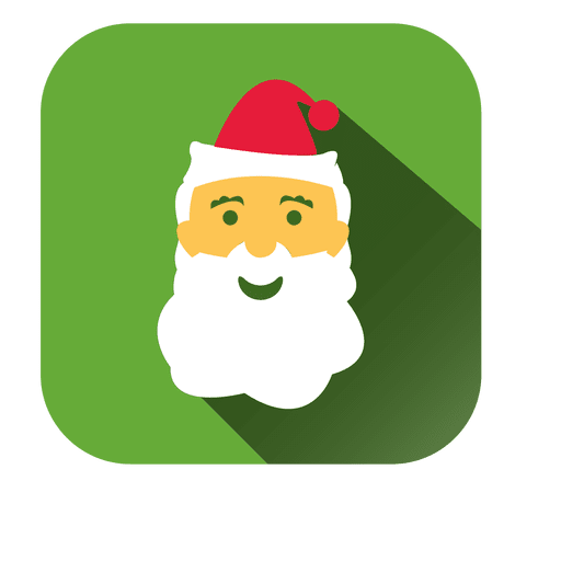 Icono de Santa cara de dibujos animados cuadrado Transparent PNG