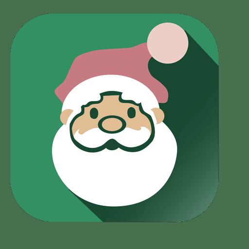 Icono cuadrado de cara de Santa