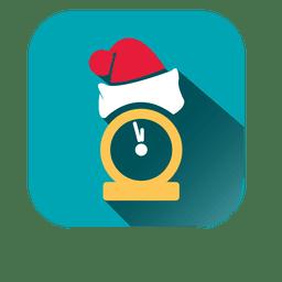 Ícone de relógio de chapéu de Papai Noel