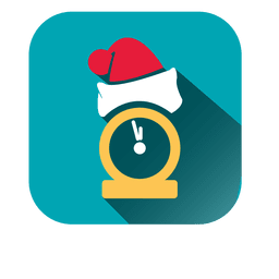 Santa hat clock icon