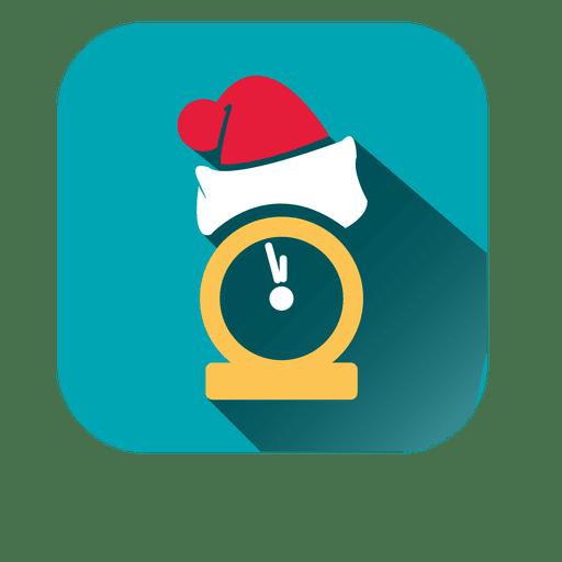 Ícone de relógio de chapéu de Papai Noel Transparent PNG