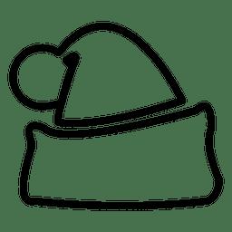Icono de línea de sombrero de Santa