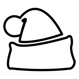 Santa hat line icon