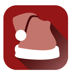 Santa hat square icon