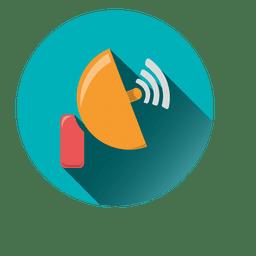 Satellite antena circle icon