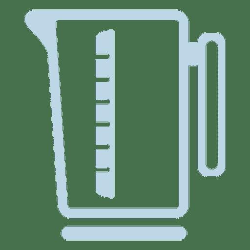 Scale jug line icon Transparent PNG