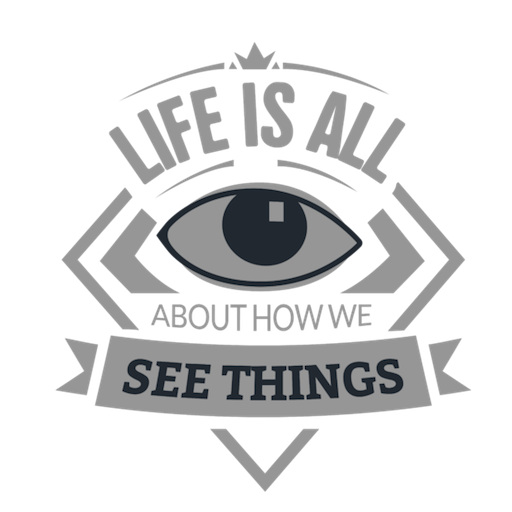 See things motivational emblem Transparent PNG