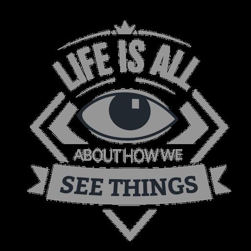 Ver cosas motivacionales emblema. Transparent PNG