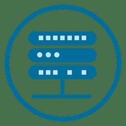 Icono del círculo del servidor