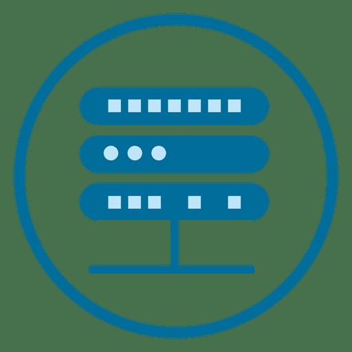 Icono de círculo de servidor