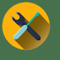 Icono de configuración de ronda