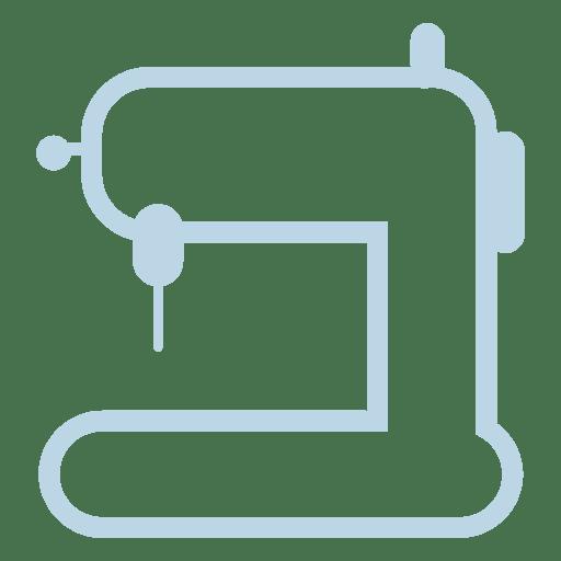 Icono de línea de máquina de coser Transparent PNG