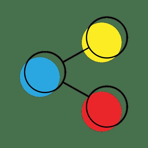 Compartilhar ícone Contorno Transparent PNG