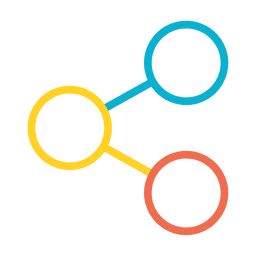 Colorido icono de compartir