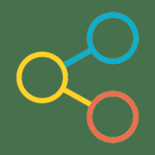 Icono de compartir colorido Transparent PNG