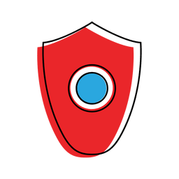 Icono de virus de malware de escudo
