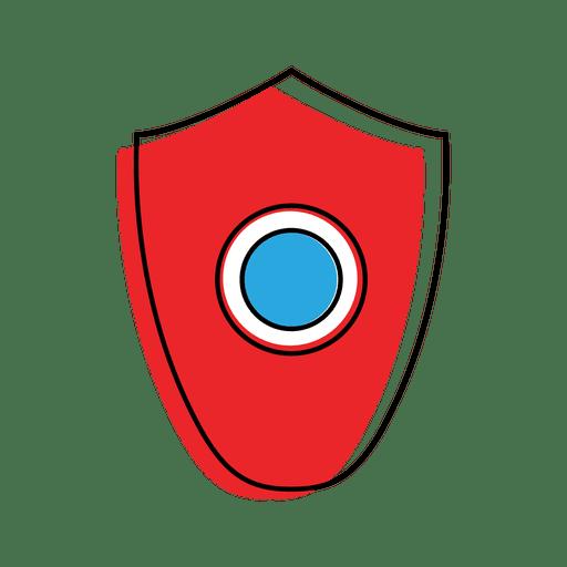 Shield malware virus icon