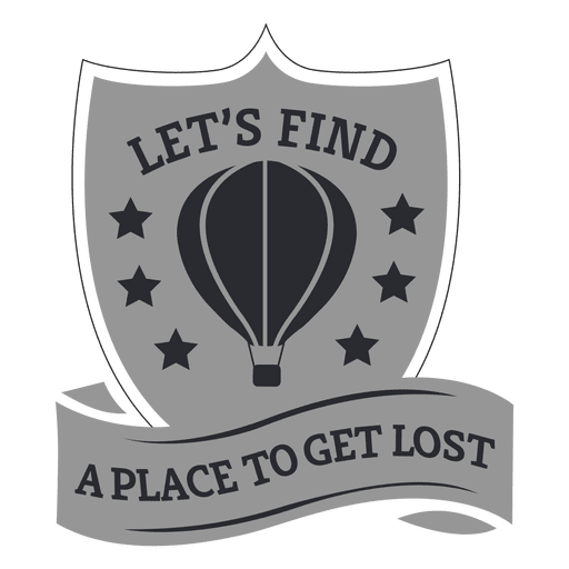 Shield ribbon motivational label Transparent PNG
