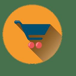Einkaufswagen runden Symbol