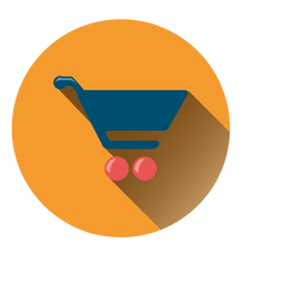 Shopping cart round icon