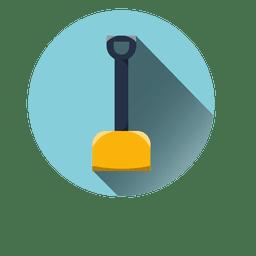 Shovel round icon