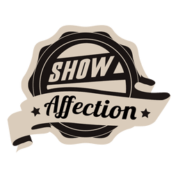 Show affection motivational badge