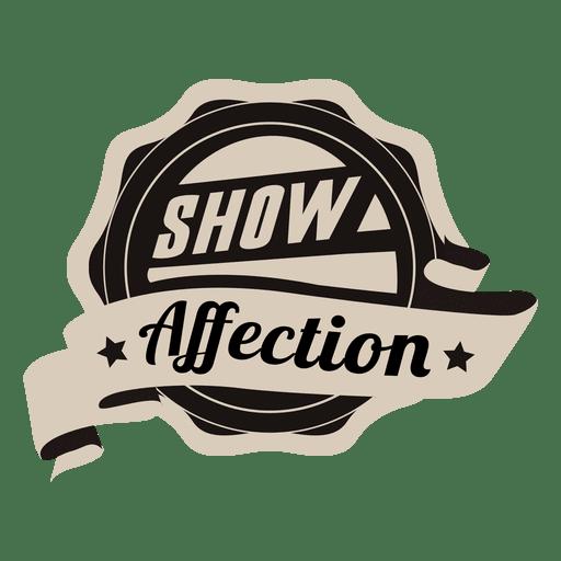 Show affection motivational badge Transparent PNG