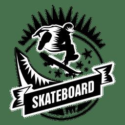 etiqueta de deporte skate
