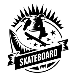 Skateboard-Sport-Label