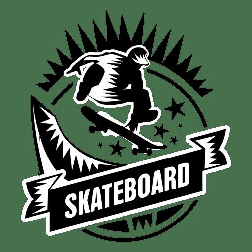 Etiqueta deportiva de skate