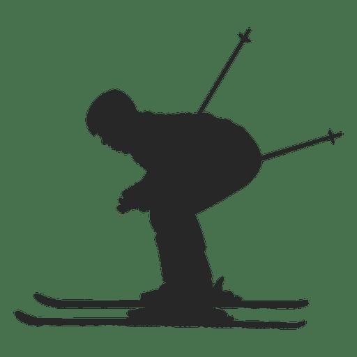 Silhueta de esqui 1 Transparent PNG