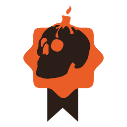 Skull halloween badge