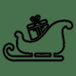 Ícone da linha Sliegh