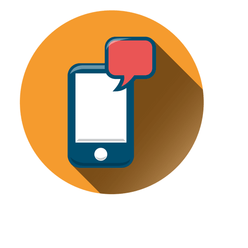 Smartphone chat circle icon - Transparent PNG & SVG vector ...