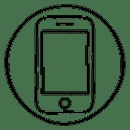 círculo del doodle de teléfonos inteligentes