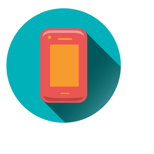 Smartphone drop shadow circle icon - Transparent PNG & SVG ...