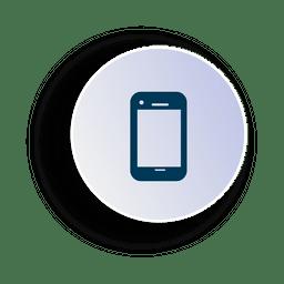 Icono de circulo de smartphone