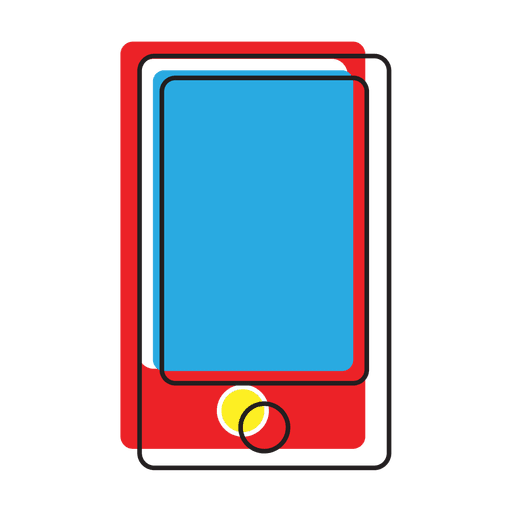 Colorful smartphone message icon - Transparent PNG & SVG ...