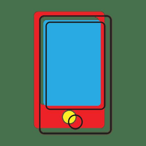 Icono de mensaje de teléfono inteligente colorido Transparent PNG