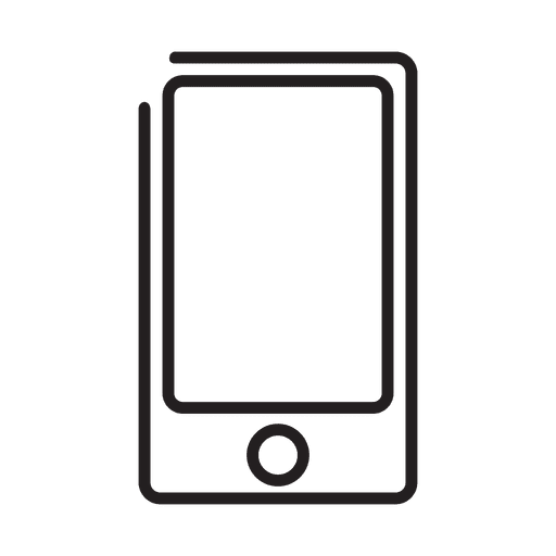 Smartphone simple stroke icon - Transparent PNG & SVG ...