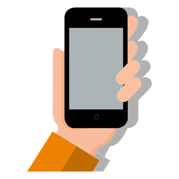 Smartphone on hand