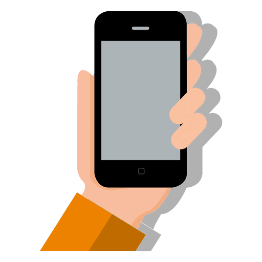 Smartphone on hand Transparent PNG