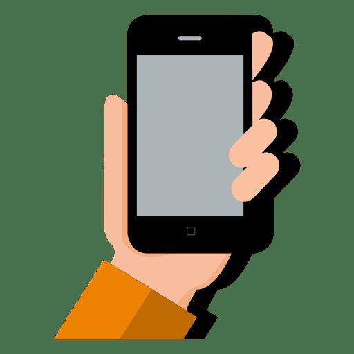 smartphone on hand transparent png svg vector. Black Bedroom Furniture Sets. Home Design Ideas