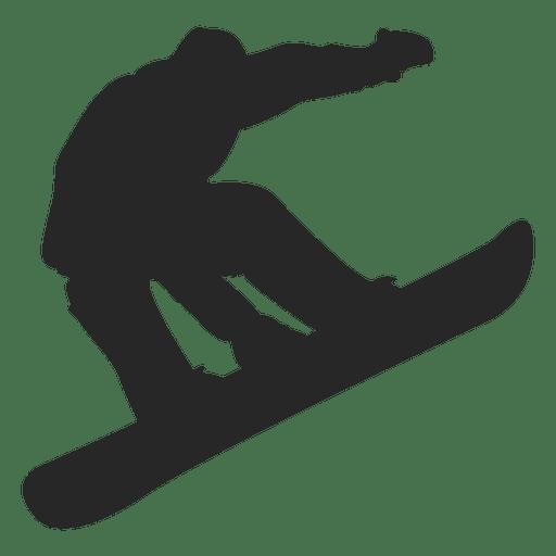 Salto de snowboard silueta