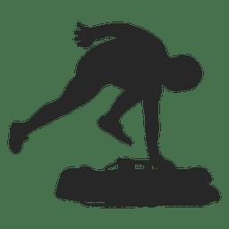 Silueta de snowboard