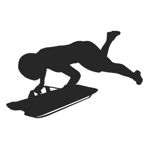 Snowboarding silhouette 1