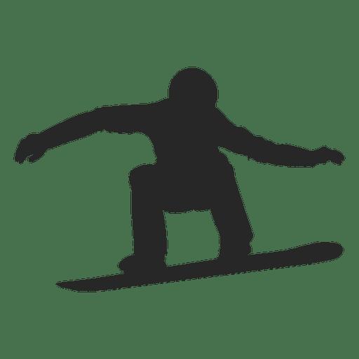 Snowboarding silhouette 2.svg